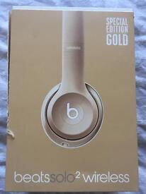 Beats by Dr Dre Solo2 Wireless Headphones Special Edition Gold