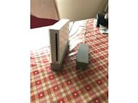 Nintendo wii console, controllers and wii weight board
