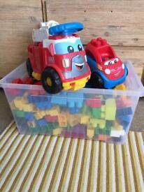 Mega Blocks with vehicles