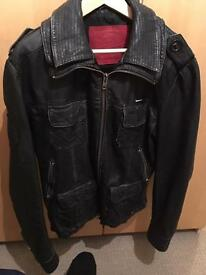 Superdry leather jacket size L