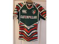 Leicester tigers signed rugby shirt
