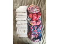 ALVABABY Reusable Washable Pocket Cloth nappies Diaper 6 Nappies + 12 Inserts