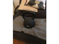 40 kg kettle bell, rubber coated