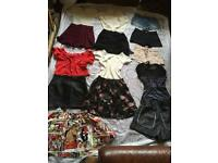 Good Summer Bundle of Ladies Tops/Shorts/Skirt/tops/legging 17 items in Size 8 used & new £25