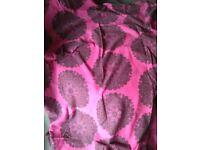 Pink and black single reversible duvet set
