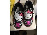 Hello kitty light up shoes girls size 11