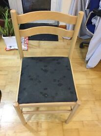 Wood chair x 5 good condition
