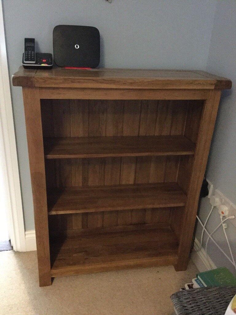 Solid Oak Bookshelf Furnitureland