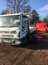 Iveco Eurocargo beavertail with drop sides 2005 55 Reg