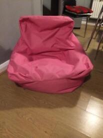 Chair bean bag. Pink