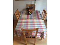 IKEA Dining table with 4 chairs