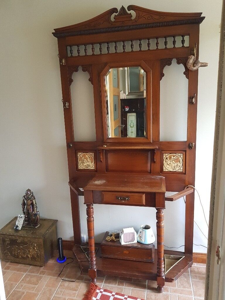 Antique Hall Stand With Mirror In Lisburn County