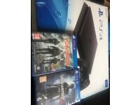 PlayStation 4 (slim) 2 games. Brand new