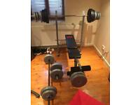 Pro Power Weights Bench & Weights