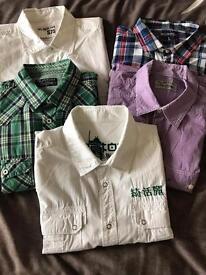 Men's Burton short sleeve shirt bundle x5 M/L