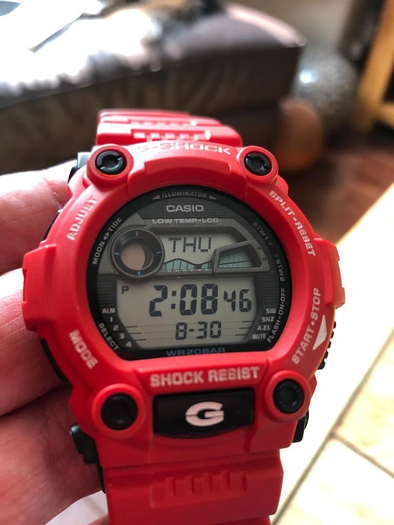 G Shock 3194 Red Strap Includes Box And Instructions In