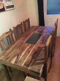 Barker & Stonehouse solid oak table and chairs