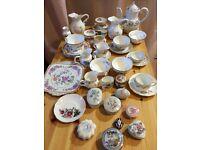 Job lot 42pieces vintage porcelains ideal for wedding decoration