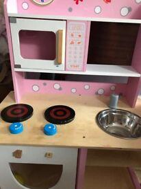 Child's wooden kitchen