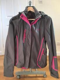 Ladies size 14 waterproof and breathable lightweight grey/pink jacket