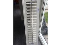 Pure white shutter 27cm wide by 107 height