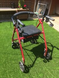 Wheeled Mobilty Aid with Seat