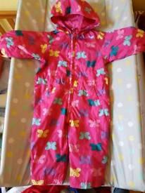 Girls waterproof suit 6-9m