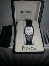 Brand new in box unisex Bulova watch.