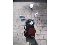 Childrens Golf Clubs and bag - half set