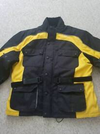 Mens 2XL Bikers gearbox scotchlite motorbike jacket