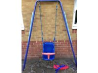 Swing with child and baby seats (sold together or separately)