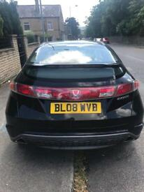 BARGAIN Honda Civic 2.2 diesel black 5dr PUSH BUTTON start