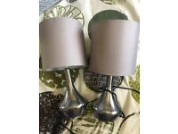 2x touch lamps