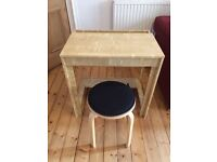 compact desk and stool