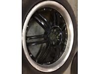 """Multi fit 18"""" alloys with tyres"""