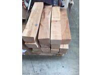 900 kiln dried beech planks 75mm x 75mm x 400mm - great firewood