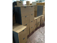 Beech 2 Draw Filing Cabinet