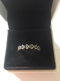 Pandora Flower Band Ring
