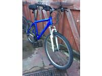 Muddy fox lightweight duel suspension mountain bike, can deliver