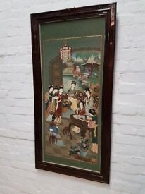 Framed Oriental Wall Panel (DELIVERY AVAILABLE)