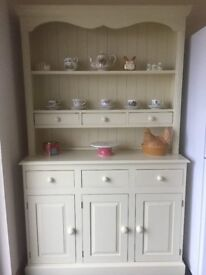 Cream Painted Pine Welsh Dresser