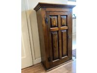 Solid wood lockable bookcase