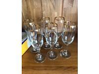 Set of 6 sparkling wine glasses flutes