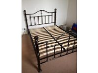 Beautiful metal/Chrome double bed frame