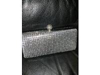 stunning diamonte bag never used