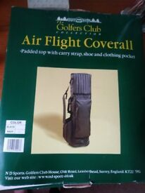 Golf club bag coverall for air travel