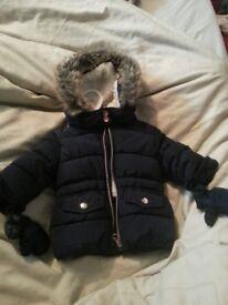 Navy blue baby parker type jacket
