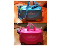 x1 Pink & x1 Blue Trunki Suitcase