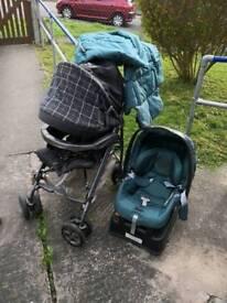 Mama's and papa's pikop3 buggy and car seat
