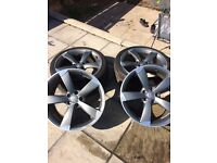 "19"" official Audi propellor rims."